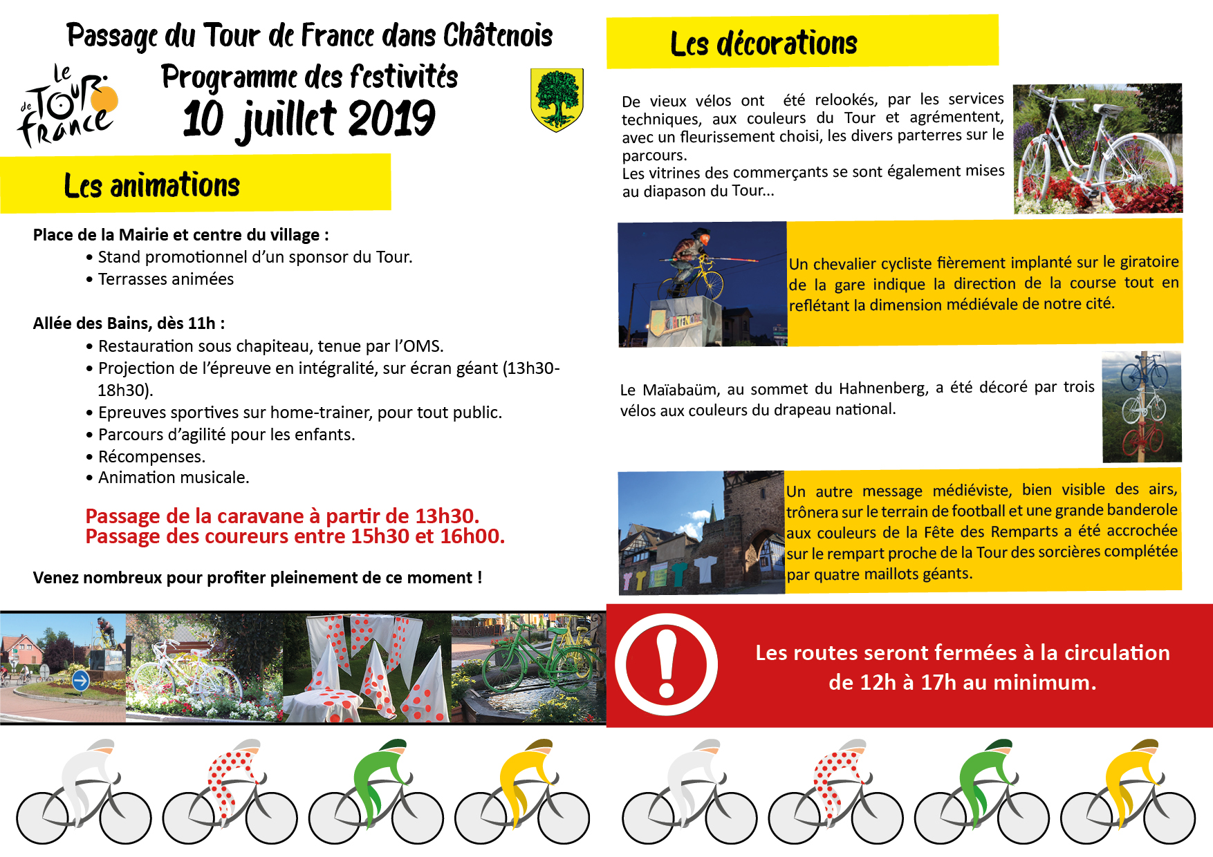 Programme d'animations Tour de France