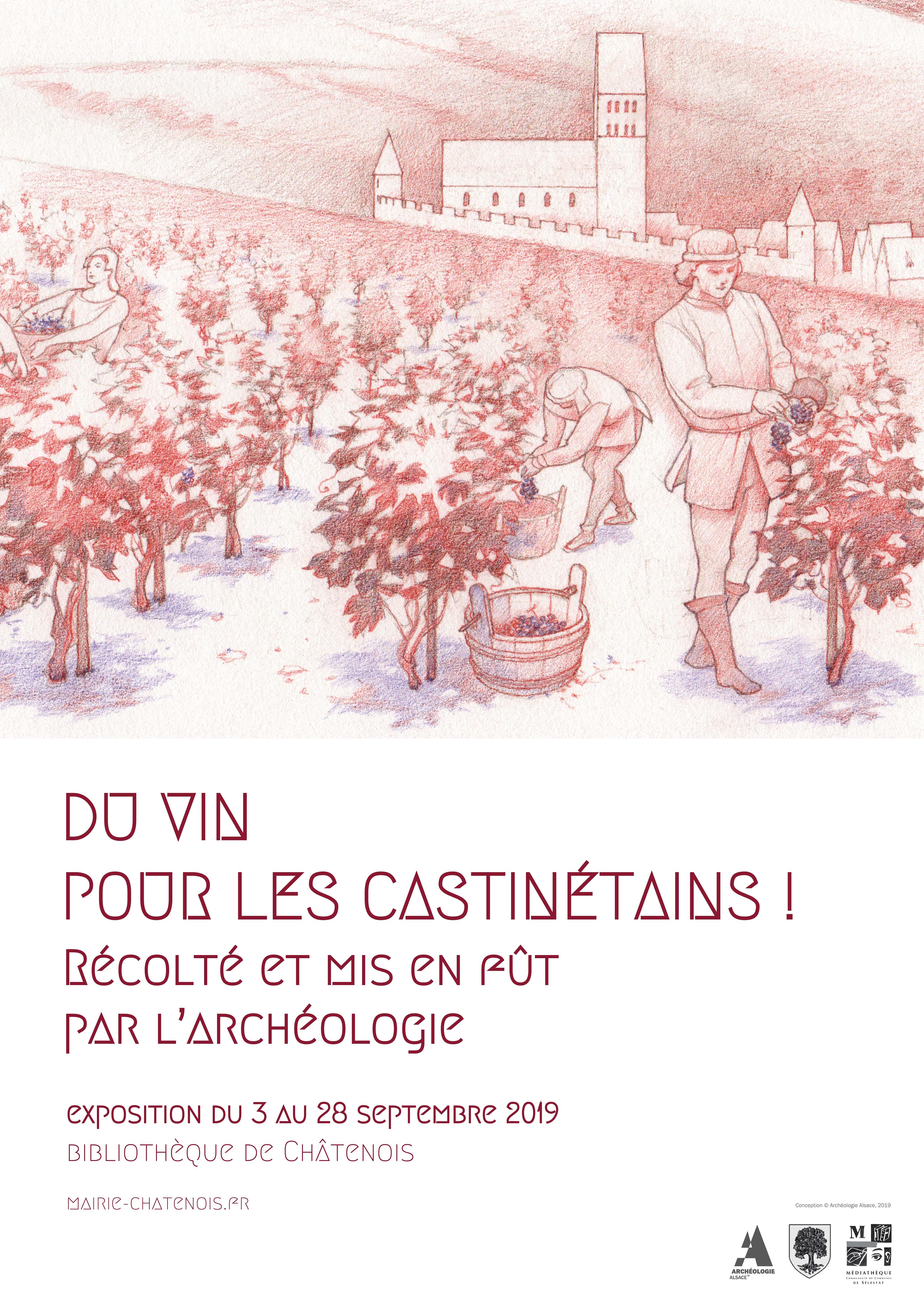Affiche exposition fouilles archéologiques