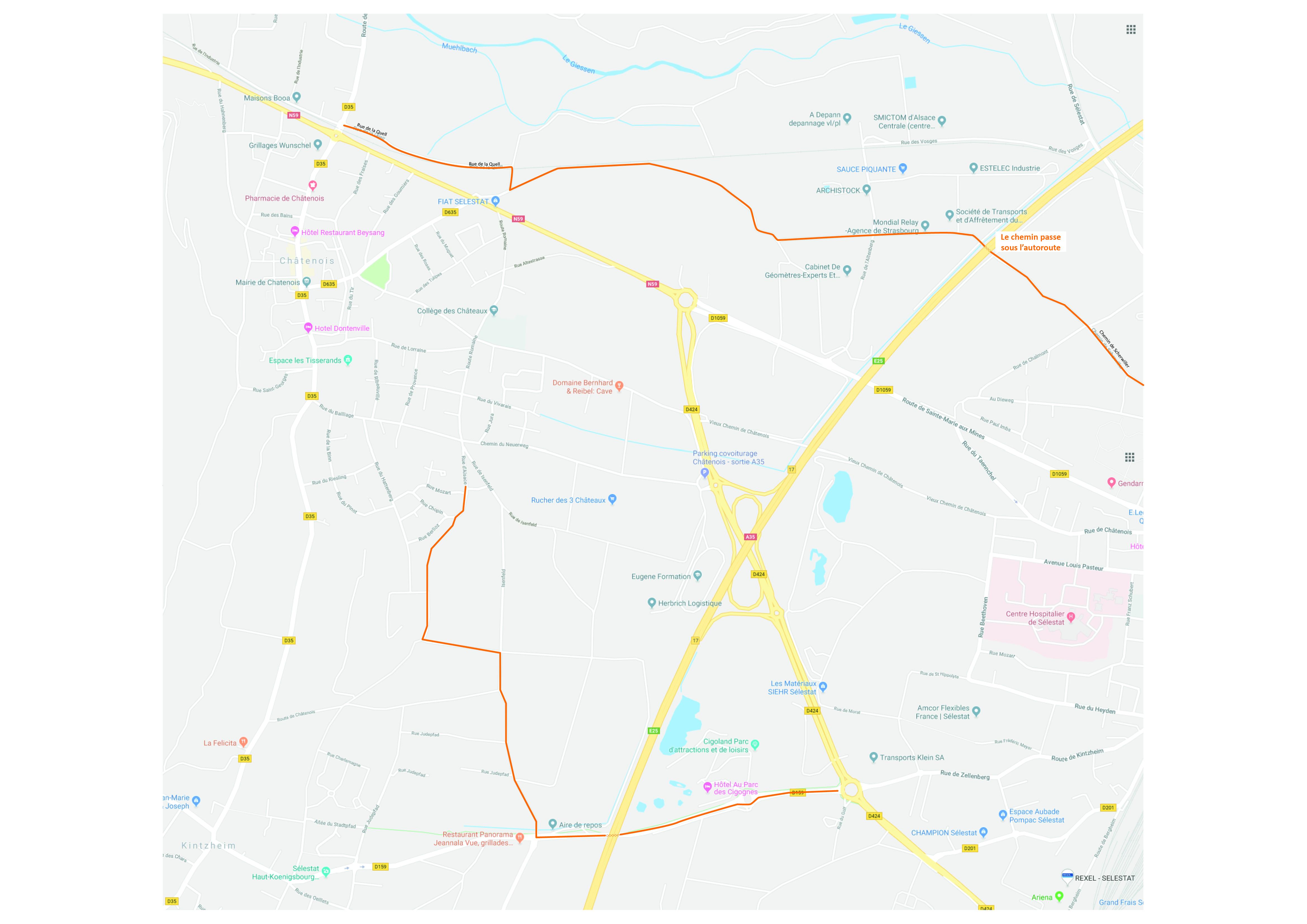 Itinéraire cyclables bis
