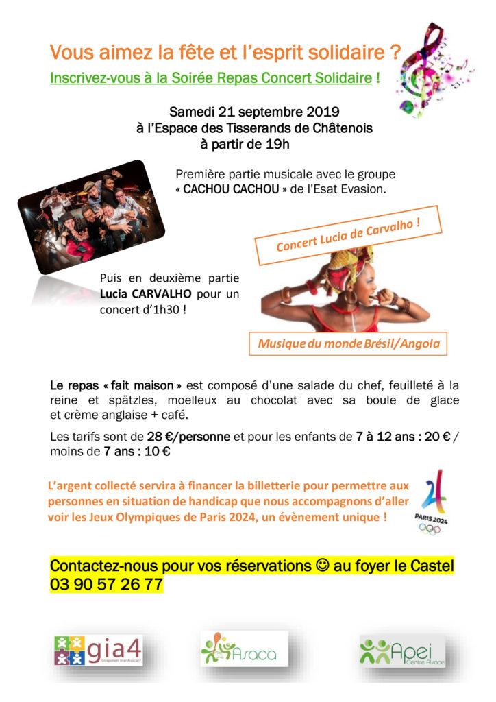 Flyer Soirée Repas Concert Solidaire