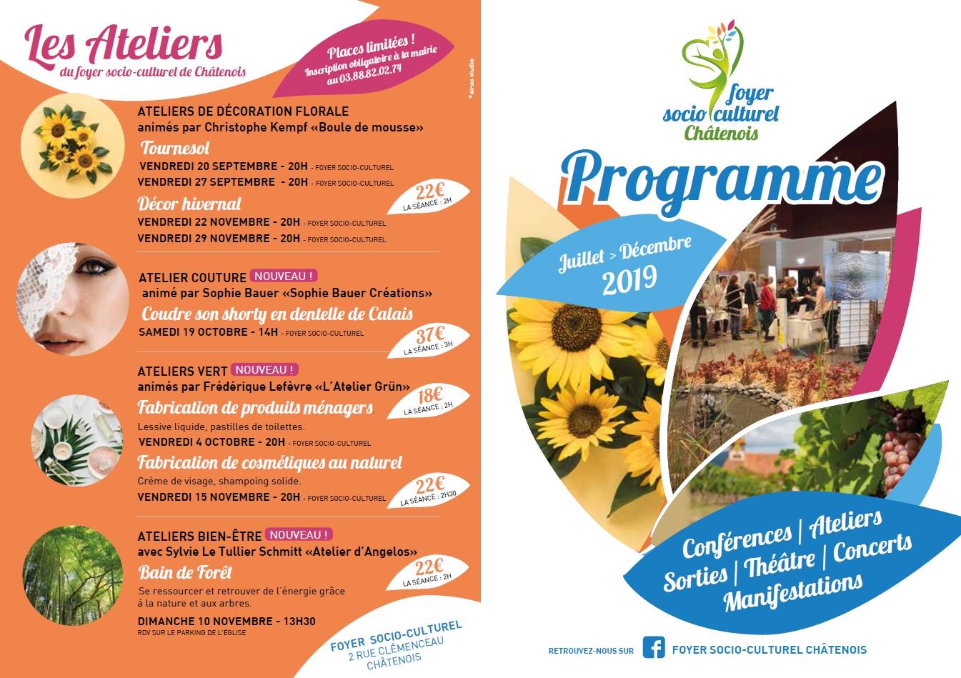 Programme FSC juillet-decembre 2019 1