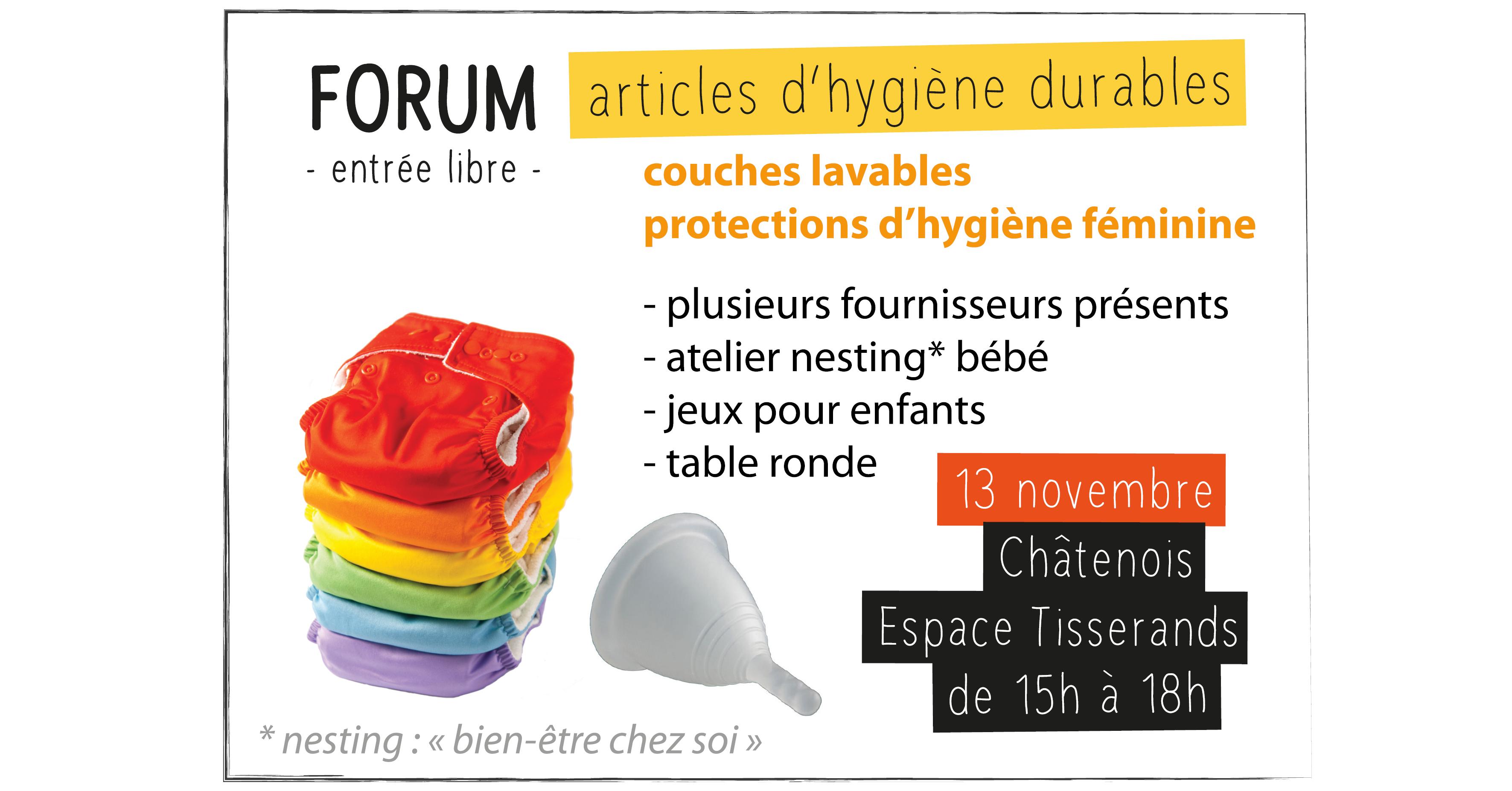 Forum articles hygiène durables