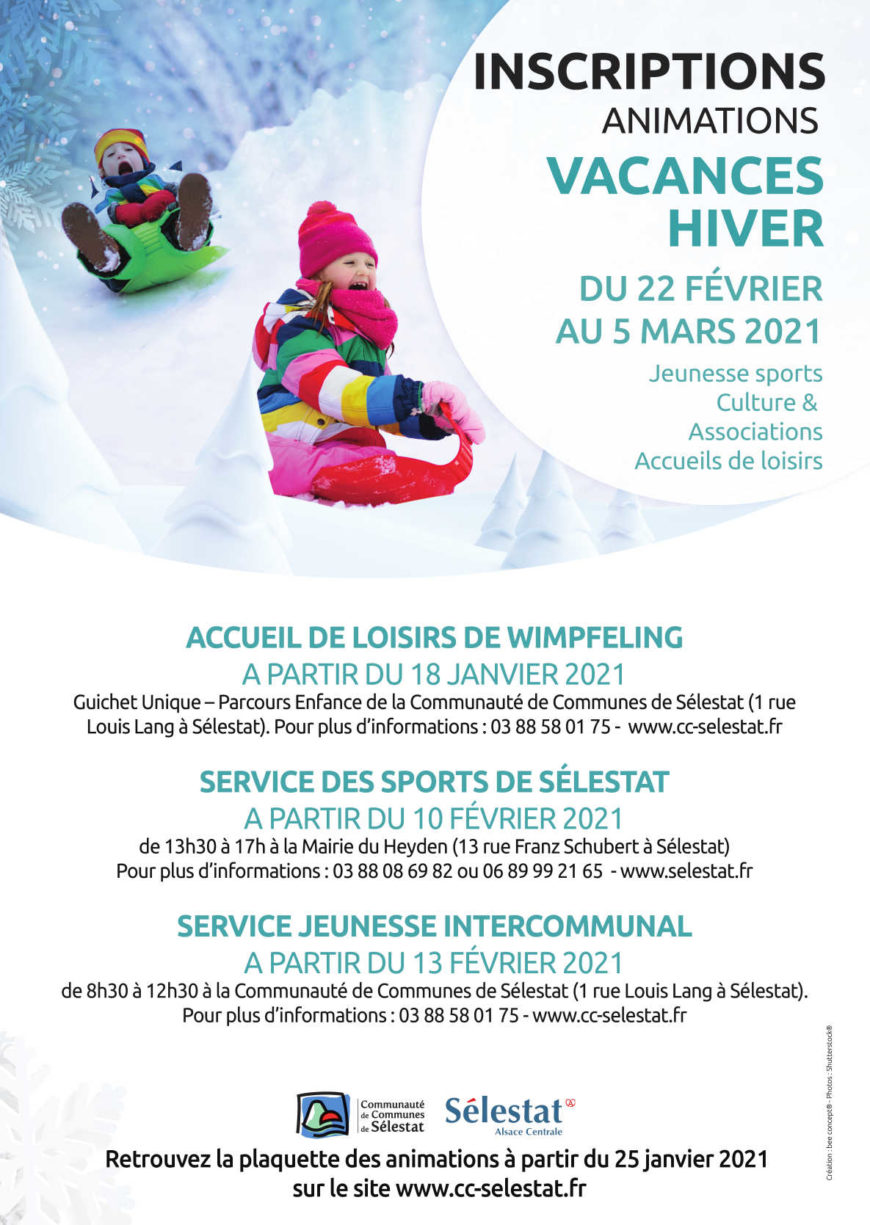 Animations vacances d'hiver : jeunesse sports, culture & associations