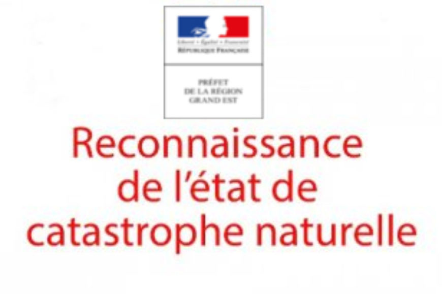 Inondations du 15 juillet -> reconnaissance de l'état de catastrophe naturelle