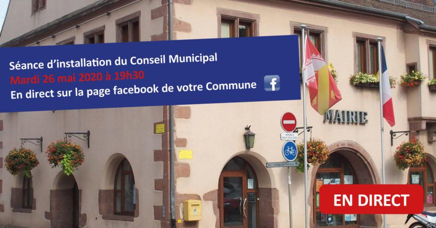 Ordre du jour de la séance d'installation du Conseil Municipal du 26 mai 2020