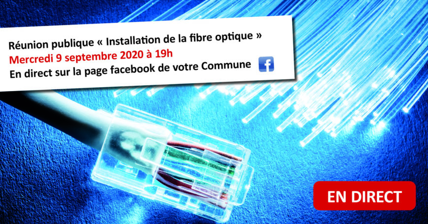 """Réunion publique """"Installation fibre optique"""""""