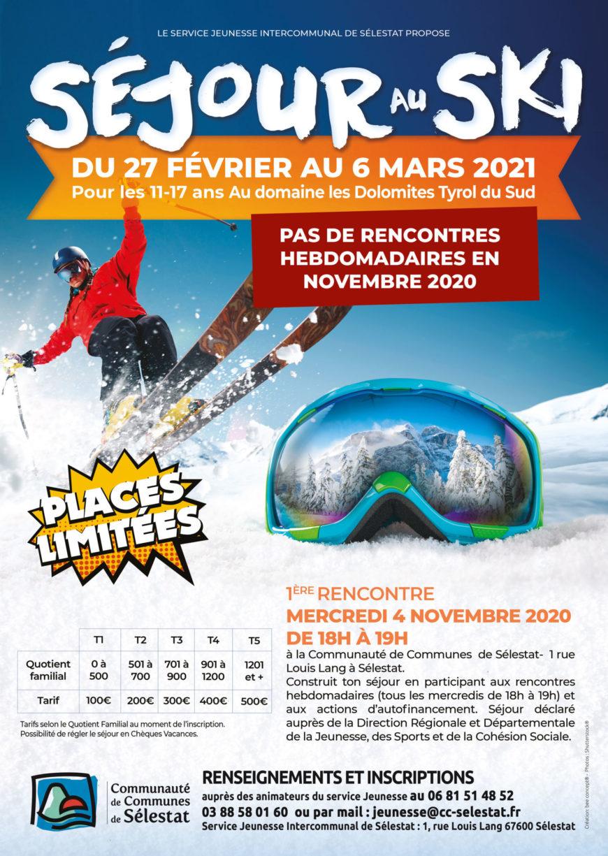 Séjour au ski du 27 février au 6 mars 2021