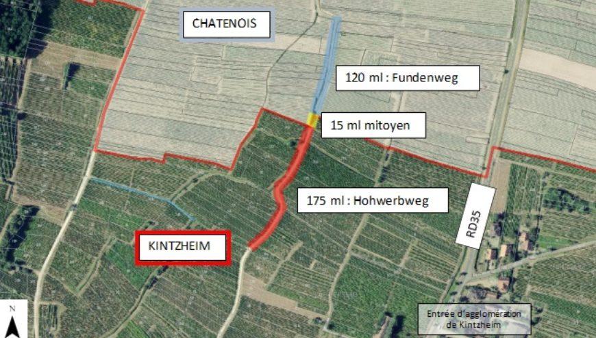 Travaux sur les chemins Fundenweg et Hohwerbweg