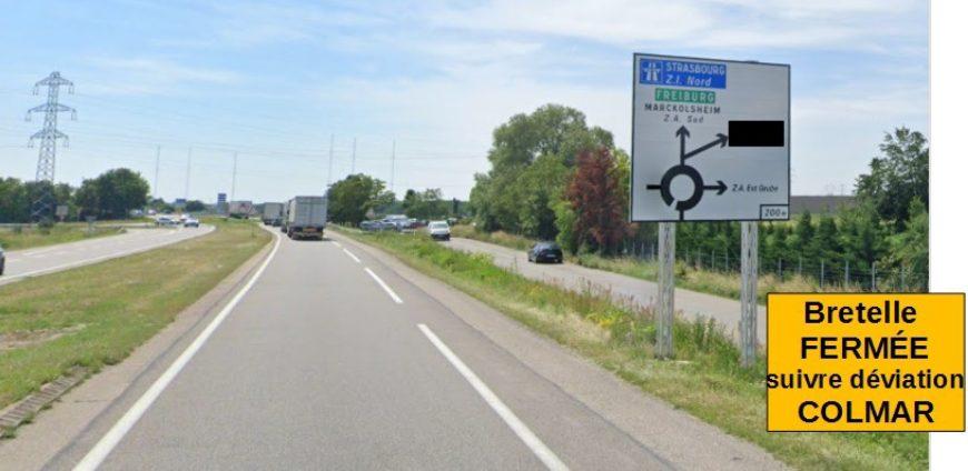 Fermeture de la bretelle Châtenois vers A35 Colmar