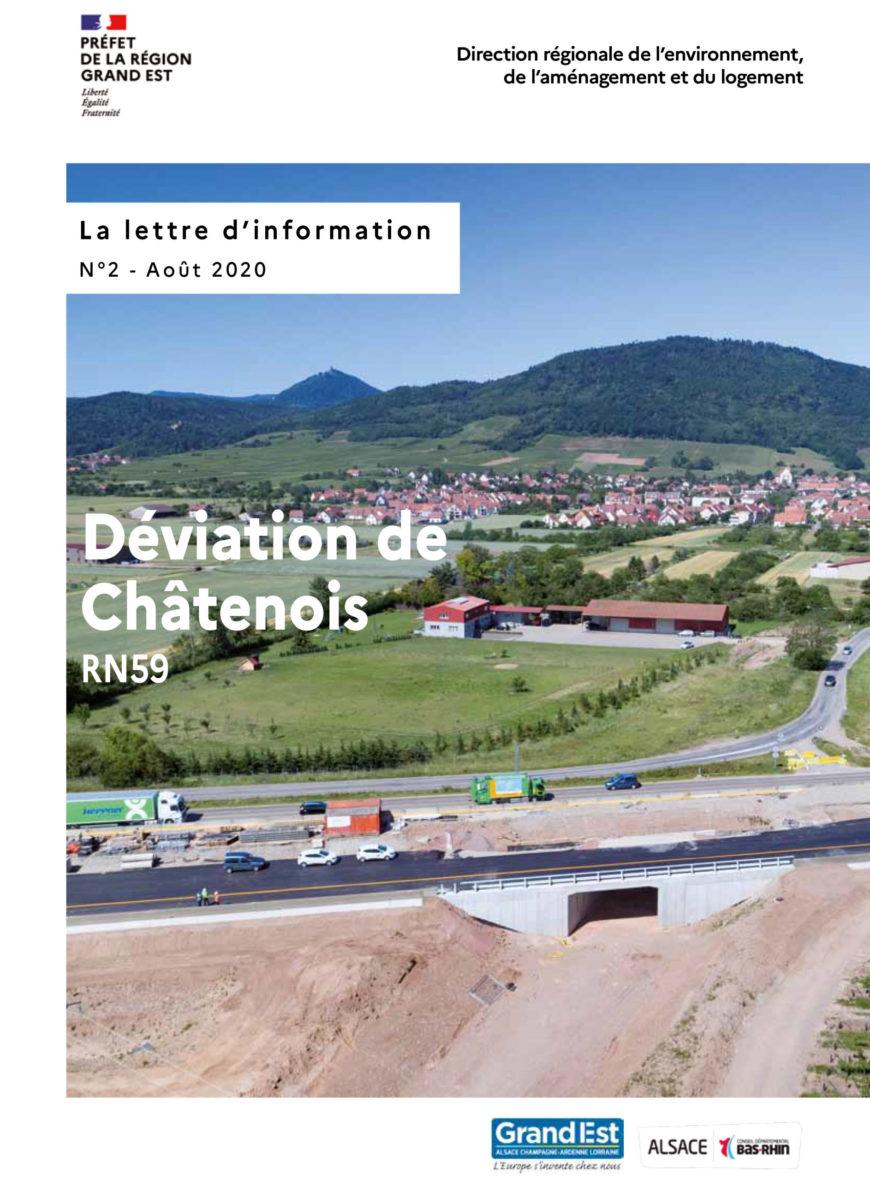 Lettre d'information n°2 des travaux de déviation de Châtenois (RN59)