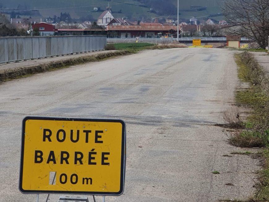 Sélestat et Châtenois : solution trouvée sur le Vieux Chemin Sélestat-Châtenois