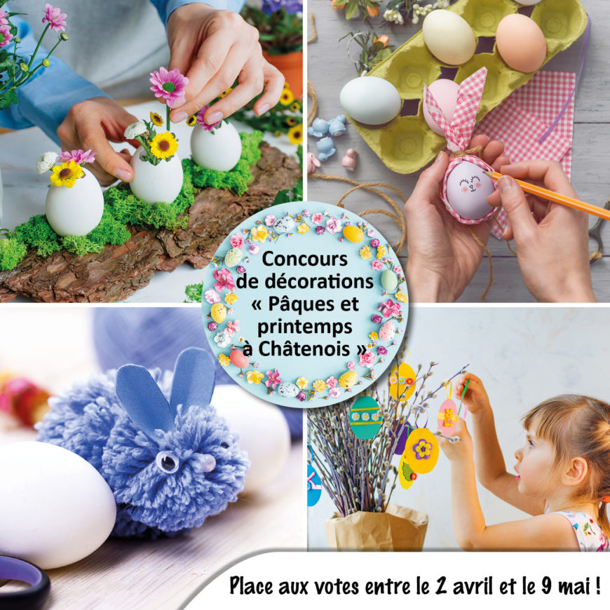 """Concours de décorations """"Pâques et printemps à Châtenois"""" : A vos votes !"""
