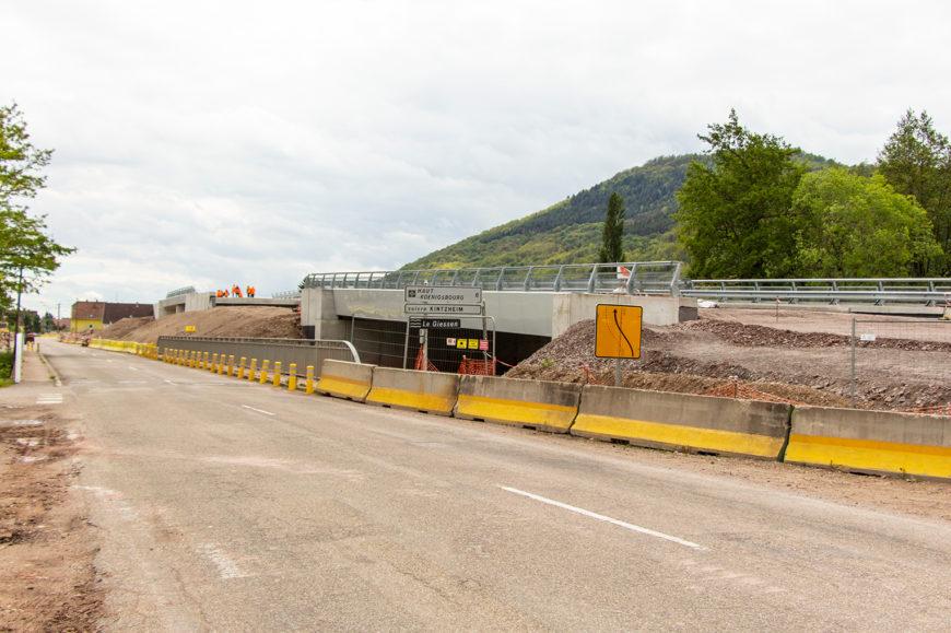 Travaux du contournement : coupure de la circulation route de Scherwiller