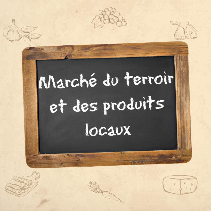 Marché du terroir et des produits locaux/frais