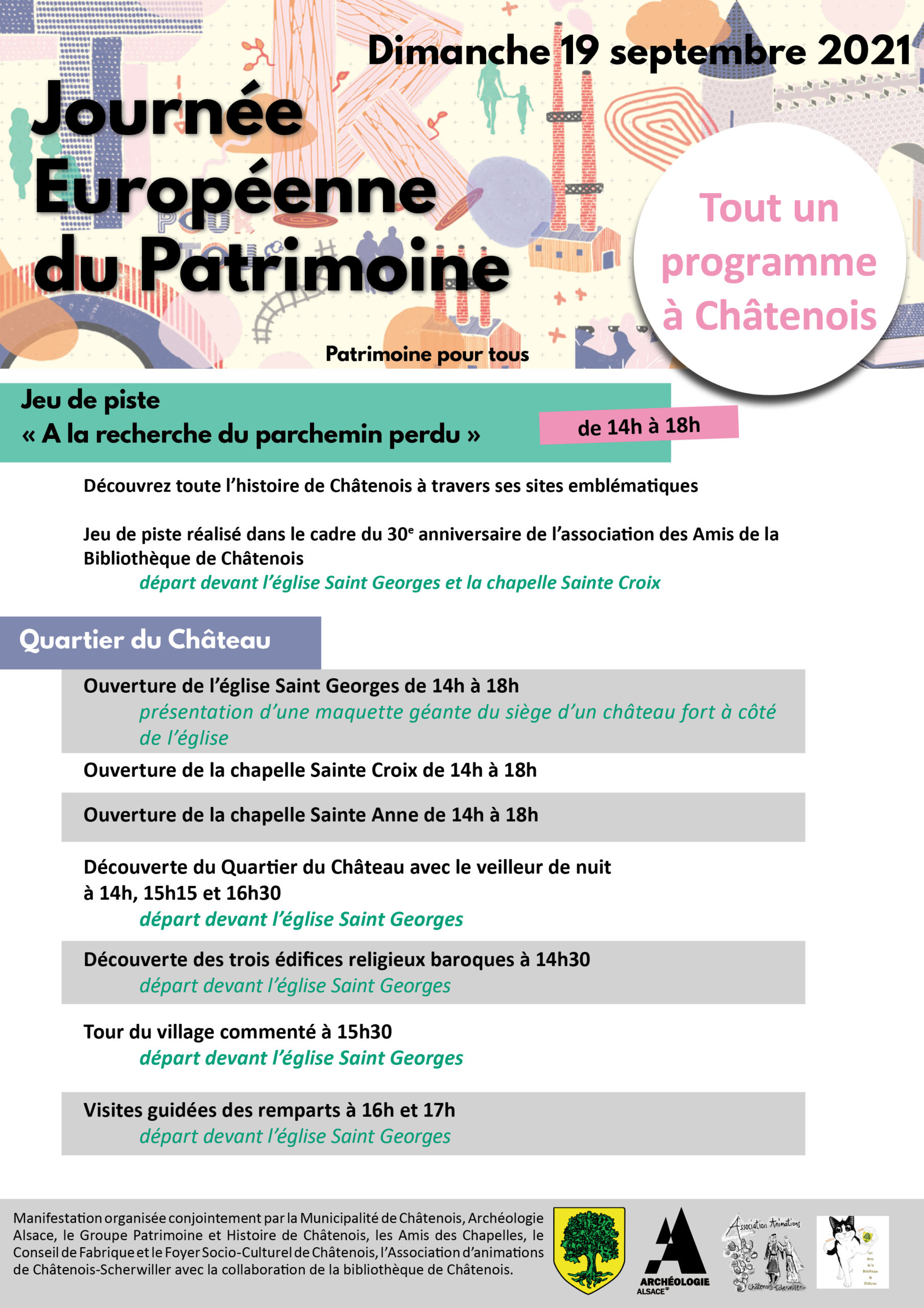 Affiche prog Chatenois 2021